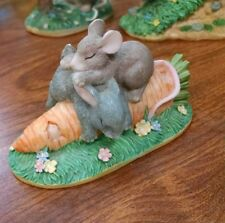 Charming Tails Mouse & Rabbit Sleeping On A Carrot Silvestri b88