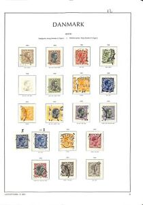[OP5397] Denmark lot of very fine stamps on 12 pages