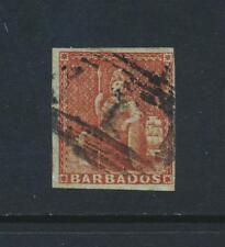 Barbados 1855,4d Marrone Rosso, VF Usato Sg #5 Gatto £ 275 (Vedere in Basso)