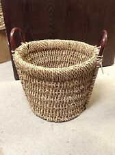 Large Round Seagrass Wicker Laundry Storage Basket NEW Toys Books 18X14