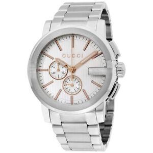 Gucci G-Chrono Quartz Movement Silver Dial Men's Watch YA101201