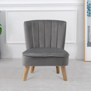 Dining Chair Velvet Comfy Padded Seat Dressing Living Room Home Kitchen Chair UK
