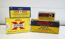Western Super X, Lubaloy and 38 Special Vintage Ammo Boxes - Empty