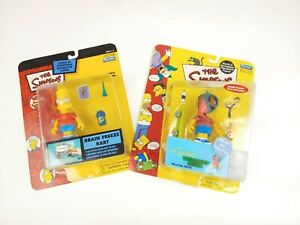 Lot of 2 Playmates WOS Simpsons - Bart as the Fly & Brain Freeze Bart