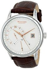 Rudiger Men's R2700-04-001.16 Aachen 24 Hour Display Brown Leather Date Watch