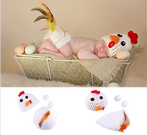 Chick Cute Newborn Baby Girl Boy Crochet Knit Costume Photo Photography Prop