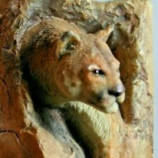 "Mcsi 2008 Integrity Quality Imagination Puma Coming Out of Cave Figurine 3.75"" T"