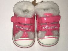 Diesel Baby Girl New PATENT LEATHER SNEAKERS 16 Eur / 0 US RTL $75 000Z06 O279