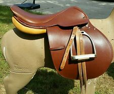 "17"" English SHOW saddle USED ONCE!! CROSBY PRIX DES NATIONS HORSE TACK"