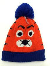 Childrens Place Baby Hat 6-12 Months Tiger Beanie Orange Blue New