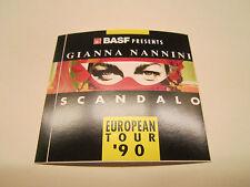 GIANNA NANNINI - SCANDALO EUROPEAN TOUR `90 ( BASF ) - AUFKLEBER ( 8 cm / 8 cm )