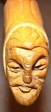 Couteau de Poche Opinel N°8 Manche Bois Sculpté Pièce Unique Lame Carbone