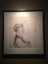 VOLKERT Nicely Framed Male Portrait Studies Charcoal