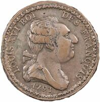 Louis XVI - Constitution - Essai 1791 - Frappe d'époque - Rarissime