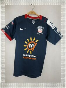C -  Maillot Rugby Bleu Blanc Rouge Montpellier Les Diables Rouges Nike Taille S