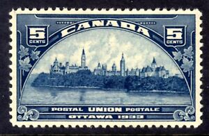 CANADA #202 5c DARK BLUE, 1933 PARLIAMENT BUILDINGS, MLH