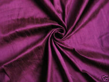 DESIGNER PURPLE 100% DUPIONI SILK FABRIC WHOLESALE BOLT ROLL 32 YARDS