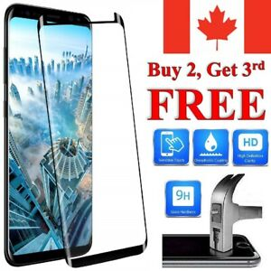 Curved Tempered Glass Screen Protector Cover For Samsung S20 S10e S9 S8 Plus A5