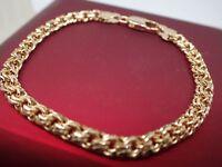 18ct 18K Yellow gold GF solid 4mm Crub Chain womens mens bracelet 7' 18cm