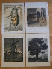 4 x LITHOGRAPHIE : SYMBOLISME ART BELGE 1918 Émile Verhaeren