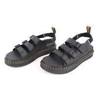 Dr. Martens Sandals Black Leather Soloman Mens Size 13 New No Box