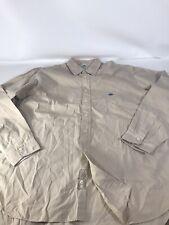 Replay Dress Long Sleeve Men's Button down Shirt Size : XXL Tan Imported, Cotton