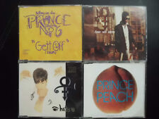 PRINCE  -  4  MAXI CDS :   DINNER WITH DELORES + PEACH + HATE YOU +  GETT OFF,