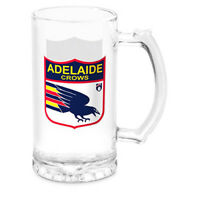 AFL Stein Glass - Adelaide Crows - Drink Mug Cup - 500ml Retail Boxed