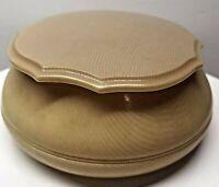 Vintage DuBarry Celluloid 1920s Powder Vanity Box Ivory Pyralin Trinket Box