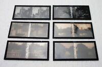 Six plaques verre 6 X 13 stéréoscopique la ville de Dijon années 1920