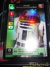 SWCCGYJ CCG YOUNG JEDI REFLECTIONS FOIL MINT SUPER RARE P13 R2-D2 STARSHIP DROID