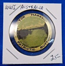Original Vintage Wwi Ww1 Australia Victor Harbour Patriotic Pin Pinback Button