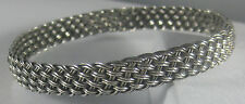 925 Bangle Bracelet 14.3 grams Nine West Patina Weave Sterling Silver