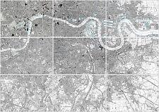 Set 9 Maps SE London in 1896 - unframed, each 59.4 x 42 cm, great wall display