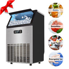 Smad Commercial 100 Lbs Undercounter Ice Maker Bar Ice Cube Machine Restaurant