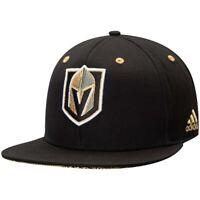 Las Vegas Golden Knights Hat Adidas NHL Hockey Black Gold Adult Snapback Cap New