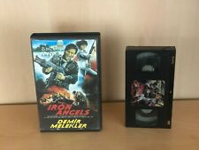 Moon Lee IRON ANGELS Turkish Ex-Rental VHS PAL 1987 Strong Action Martial Arts