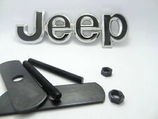 JEEP BLACK METAL FRONT GRILLE GRILL BADGE EMBLEM NEW