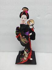 Oriental Japanese Brocade Kimono Kabuki Geisha Doll Figure Figurine