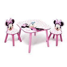 Tischset Disney Kindermöbel Minnie Mouse Tisch Stühle Set Holz Kindersitzgruppe