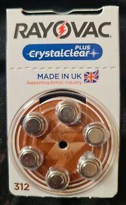 52 x Rayovac Crystal Clear Plus Advanced Hearing Aid Batteries Size 312 AU