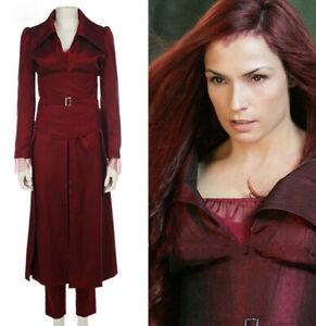 Cool Movie X-Men Dark Phoenix Jean Grey Women Cosplay Costume Red Suit Halloween