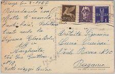 53976 - ITALIA - Storia Postale: POSTA AEREA + LUOGOTENEZA su CARTOLINA 1946