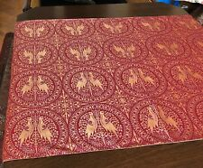 Historische Tisch Decke Seide Mittelalter Stoff Damast 140x80 Läufer NP 200,- €