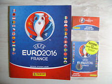 PANINI EURO 2016 France: Deutsches LEERALBUM + Update-Set (84 stickers)!!!
