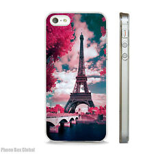 EIFFEL TOWER PARIS PRETTY CLEAR CASE FITS IPHONE 4S 5 5S 5C 6 6S 7 8 SE X PLUS