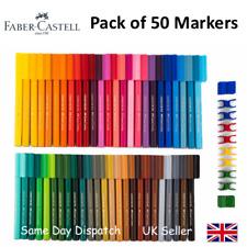 FABER CASTELL SET OF 50 FELT TIP CONNECTOR PENS - Artist & Craft Markers