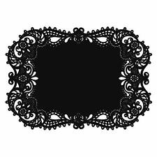(6 sets) Hortense B. Hewitt Laser Black Place Mats wedding party 72 total mats