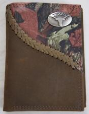 ZEP PRO Georgia Tech Yellow Jack Crazy Horse Leather Trifold Wallet Tin Gift Box