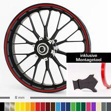 """Felgenrandaufkleber 6 mm 10""""-28"""" ver. Farben mit Montagetool Auto, Motorrad"""